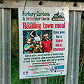 Poster on the allotment gate
